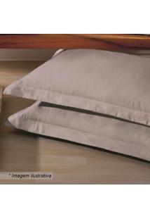 Fronha Platine- Bege- 70X50Cm- 300 Fios- Buebuettner