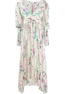 Isabel Marant Vestido Longo Filao Com Estampa - Neutro