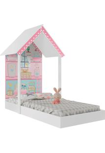 Mini Cama Montessoriana Casa De Boneca-Pura Magia - Branco