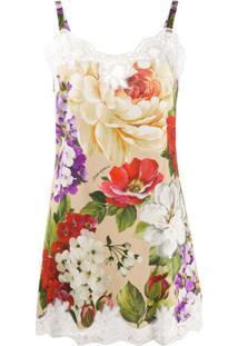 Dolce & Gabbana Floral Print Top - Branco