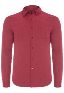 Camisa Masculina Duo Color - Vermelho