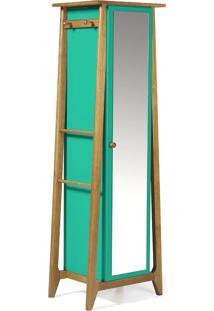 Armário Multiuso 1 Porta Stoka 981 Nogal/Verde Anis - Maxima