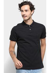 Camisa Polo Acostamento Masculina - Masculino-Preto