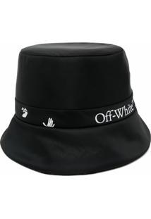 Off-White Chapéu Bucket Dupla Face Com Logo - Preto