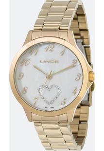 Kit Relógio Feminino Lince Lrg4454L-Kt50B2Kx Analógico 5Atm + Conjunto Semijóia