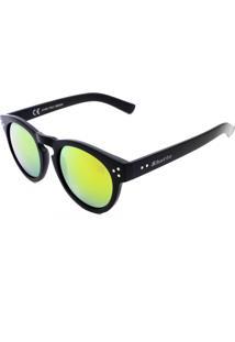 Óculos De Sol Khatto Preto Lente Amarela
