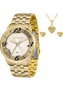 Kit Relógio Lince Feminino Com Colar E Brincos Lrg4604Lkw05C2Kx