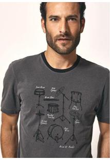 Camiseta Aviator Silk Drum Masculina - Masculino