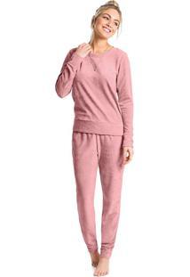 Pijama Longo Plush Navalhado Feminino