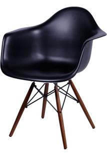 Cadeira Eames Com Braco Base Escura Preta Fosco - 44884 - Sun House