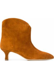 Paris Texas Ankle Boot Bico Fino - Marrom