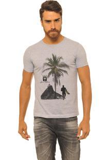 Camiseta Masculina Joss Premium New Rocha Surfista Mescla Cinza