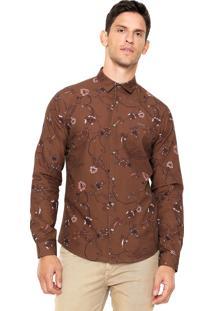 Camisa Colcci Estampada Marrom