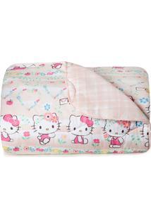 Edredom Casal Artex Matelado Hello Kitty Rosa