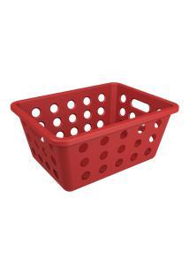 Cesta One Pequena 18,6 X 14,2 X 8,2 Cm Vermelho Bold Coza