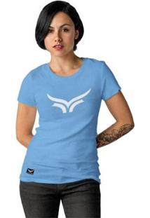 Camiseta Cellos Bull Classic Premium Feminina - Feminino-Azul Claro