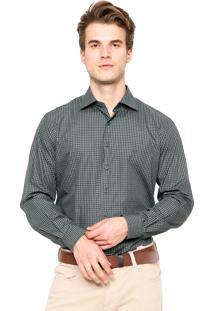 Camisa Dudalina Reta Quadriculada Verde