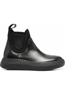 Emporio Armani Ankle Boot Com Solado Chunky - Preto