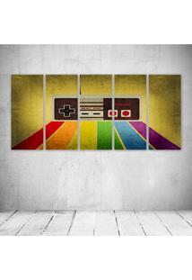 Quadro Decorativo - Gamer Retro - Composto De 5 Quadros - Multicolorido - Dafiti