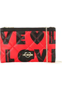 Love Moschino Clutch Love - Preto
