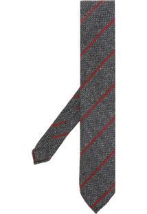 Lardini Gravata Listrada Bordada - Grey