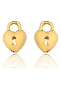 Brincos Le Diamond Coração Dourado
