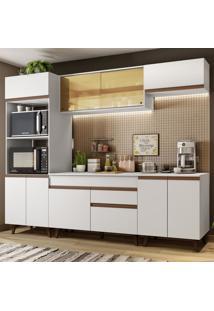 Cozinha Completa Madesa Reims 260002 Com Armã¡Rio E Balcã£O - Branco Branco - Branco - Dafiti