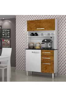 Armário De Cozinha 3 Portas Roma Sallêto Móveis Branco/Mel Demolição
