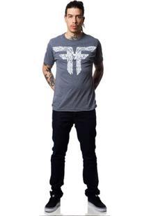 Camiseta Fallen Bones - Masculino-Mescla Escuro