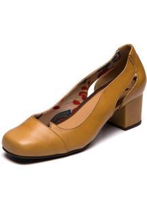 Sapato Feminino Amarelo Pequi 7317