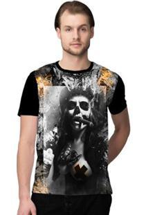 Camiseta Stompy Psicodelica1 Masculina - Masculino-Preto