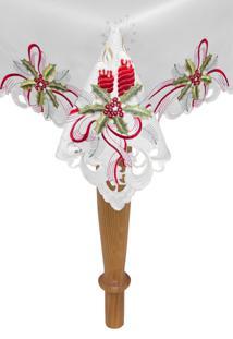 Toalha De Mesa Argivai Quadrada Natal Amsterdan 220X220Cm Branco