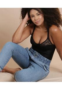 Body Feminino Recorte Renda Alças Finas Triumph