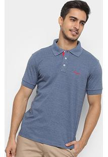 Camisa Polo Wrangler Manga Curta Básica Masculina - Masculino