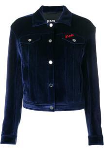 Karl Lagerfeld Jaqueta Jeans 'Karl X Kaia' - Azul