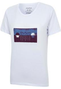 Camiseta Jeep Renegade View Feminina - Feminino-Branco
