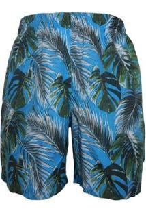 Shorts Alma De Praia Com Cordao Sleeves Masculino - Masculino-Azul