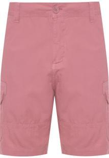 Bermuda Masculina Cargo Tracker Color - Rosa