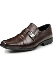 Sapato Social Couro Store Detalhe Metal Masculino - Masculino-Marrom