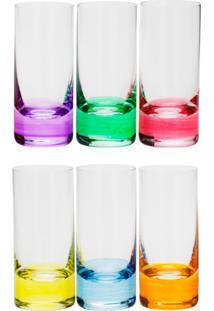 Conjunto Rojemac 6 Copos De Cristal Ecológico Para Shot Set-Bar Favorit Colorido - Tricae
