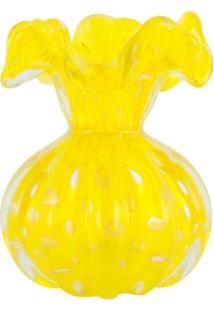 Vaso De Murano Trouxinha Com Ouro Amarelo Solei