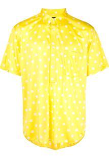 Comme Des Garçons Homme Plus Camisa Com Poás - Amarelo