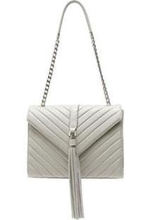 Bolsa De Couro Griffazzi Estruturada - Feminino-Off White