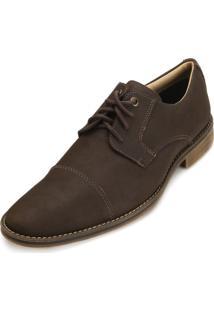 Sapato Social Couro Mariner 28901 Recortes Brown