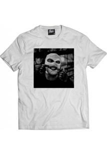 Camiseta Manga Curta Skull Clothing Gangster Branco