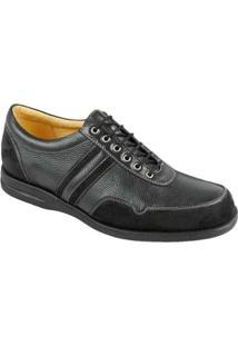 Sapato Casual Masculino Conforto Sandro & Co Îrix - Masculino-Preto