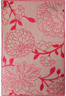 Tapete Sisllê Floral Vi Retangular Polipropileno (100X150) Vermelho