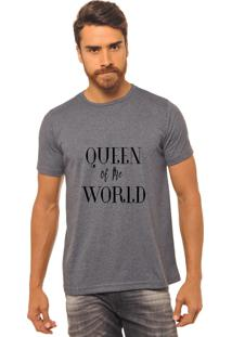 Camiseta Chumbo Estampada Masculina Joss - Queen Of The World