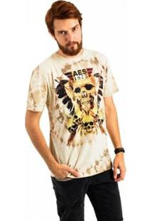 Camiseta Aes 1975 Tribe Masculina - Masculino-Marrom+Amarelo