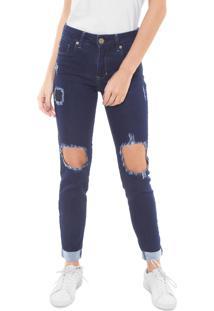 97c1ffdfc ... Calça Jeans Triton Skinny Cropped Fatima Mid Azul